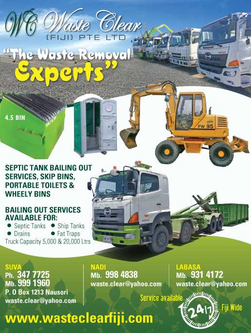 Waste Clear Fiji PTE Limited services
